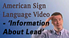 American Sign Language Video
